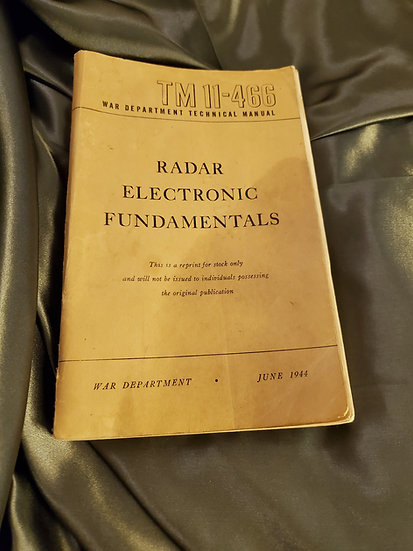 WWII RADAR ELECTRONICS FUNDAMENTALS