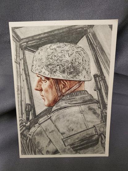 WWII German Fallschirmjäger Postcard
