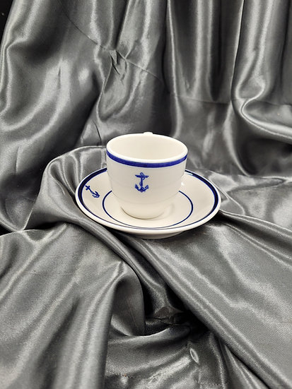 WWII NAVY OFFICER ESPRESSO CUP & SAUCER