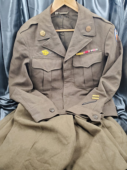 WWII US ENLISTED IKE JACKET AND TROUSERS