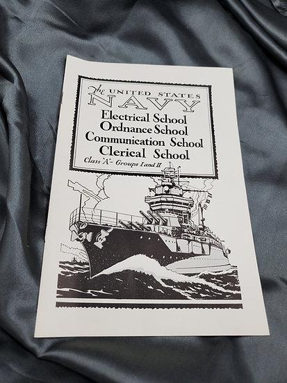 WWII ERA US NAVY TRAINING SCHOOL BOOKLET