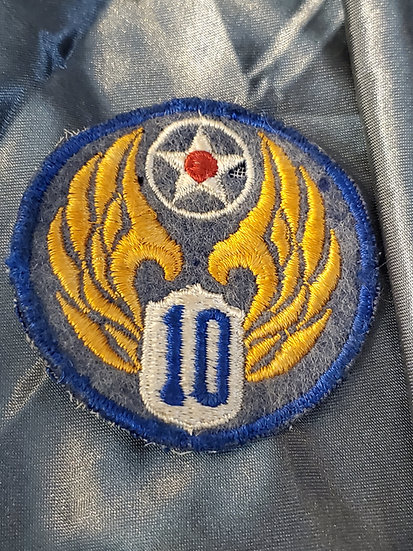 WWII AIR CORPS 10TH AIR FORCE PATCH