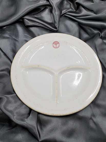 WWII ARMY MEDICAL COMPARTMENT DINNER PLATE