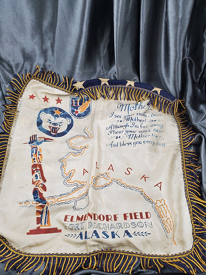 WWII US ALASKA SWEETHEART PILLOW