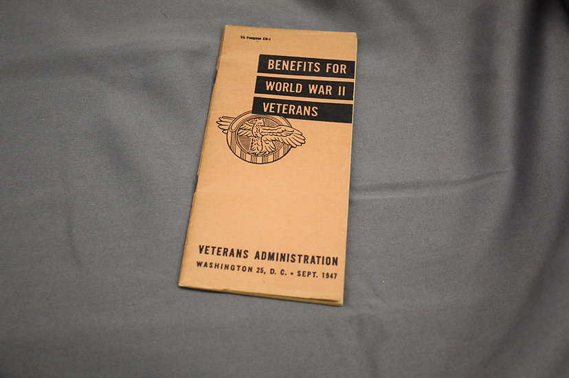 Post WWII Benefits for Veterans Pamphlet