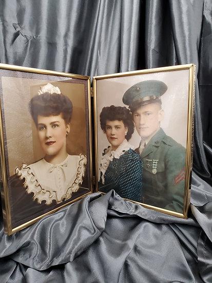 WWII PHOTO OF MARINE & SWEETHEART