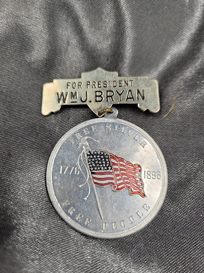 POLITICAL BADGE WMJ BRYAN US PRESIDENTIAL CANDIDATE