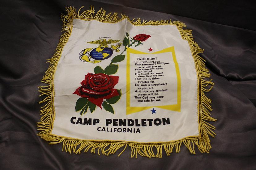 WWII USMC Camp Pendleton Sweetheart Pillow