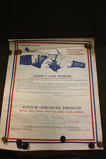 WWI Poster Lithuanian & Bohemian - Home Front