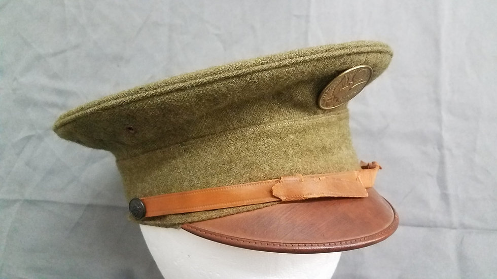 WWI US DOUGHBOY VISOR CAP BRITISH MADE