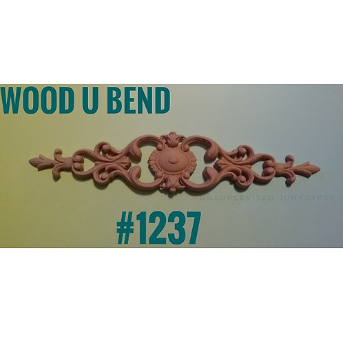 Wood U Bend Applique #1237