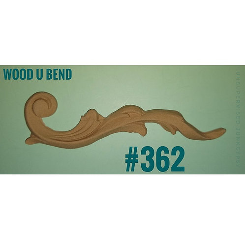 Wood U Bend Applique #362