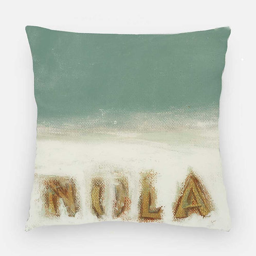 Square Pillow - Nola Horizon Print
