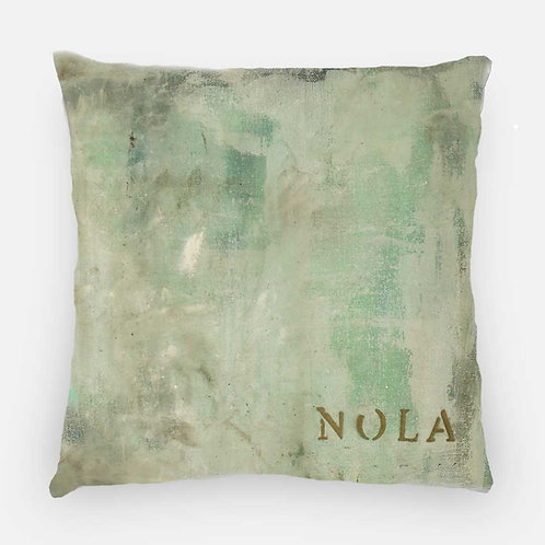 Square Pillow - Nola's Last Frost Print