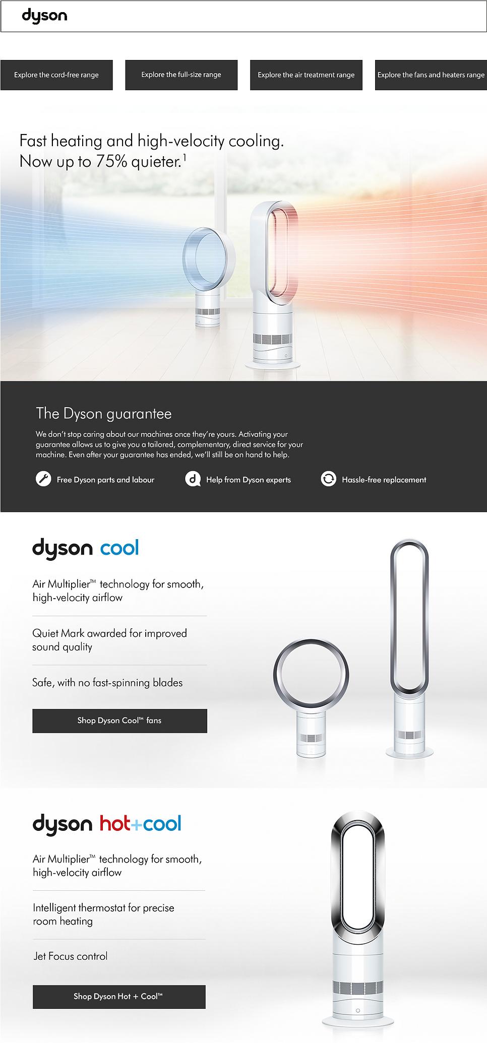 Dyson Vacuum Cleaners Purifiers Fans Hea