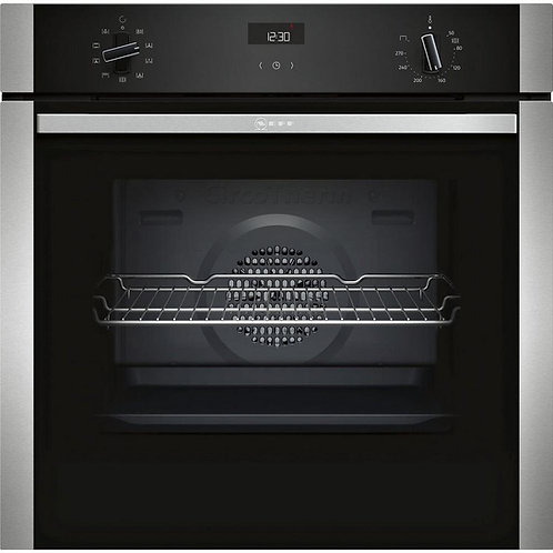 NEFF B1ACE4HN0B Electric CircoTherm® Single Oven - BLACK/STEEL - A Energy Rated
