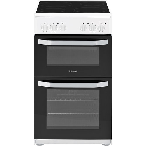 HOTPOINT HD5V92KCW 50 cm Electric Ceramic Cooker - White