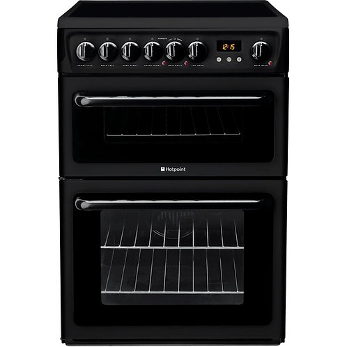 Hotpoint Newstyle HAE60KS Electric Cooker with Ceramic Hob - Black