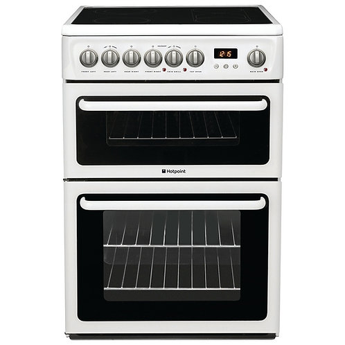 Hotpoint Newstyle HAE60PS Electric Cooker with Ceramic Hob - White -