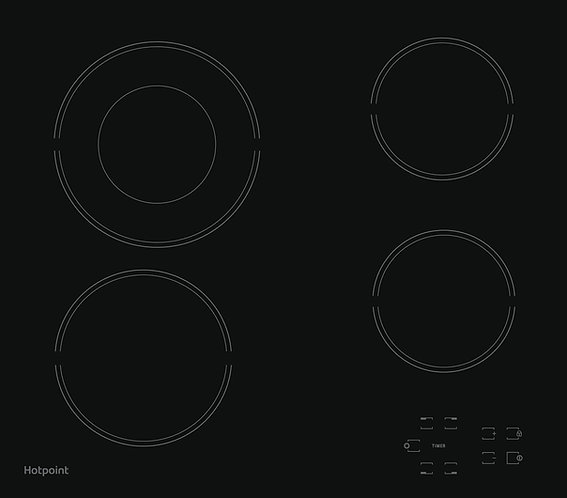 Hotpoint HR612CH 58cm Ceramic Hob - Black
