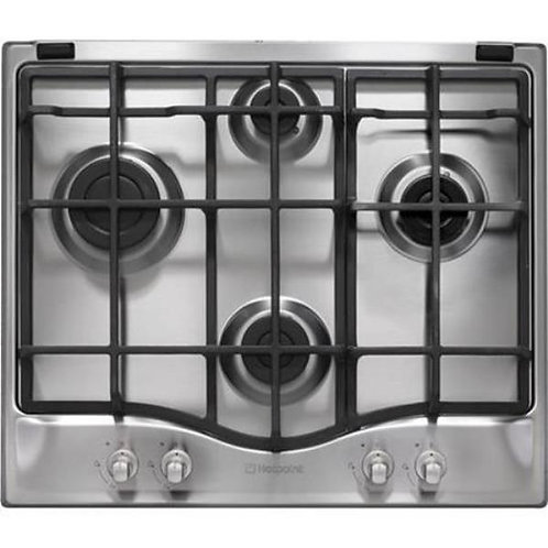 Hotpoint GCB641X 59cm Four Burner Gas Hob In Diamond Config - Stainless Steel