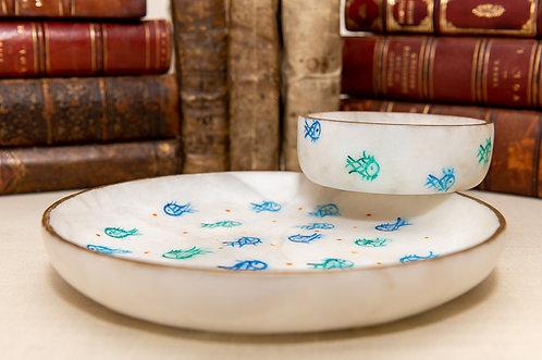 Painted Dish & Bowl Combo