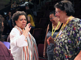Pangea World Theater's Directing Institute -Meena Natarajan, Laurie Carlos, Linda Parris-Bailey, Kathie DeNobriga