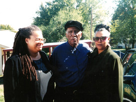 """Linda Parris-Bailey, Howard """"Louie Bluie"""" Armstrong and Barbara Armstrong"""