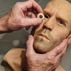Jason White fitting eye to 'Hero' Special Action Manikin
