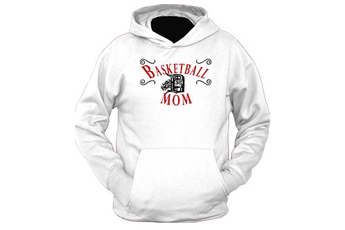 Basketball Darby mom (red text) Hoodie