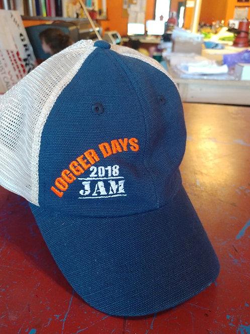 Logger Day Hat Hemp Washed Soft Mesh Trucker Navy