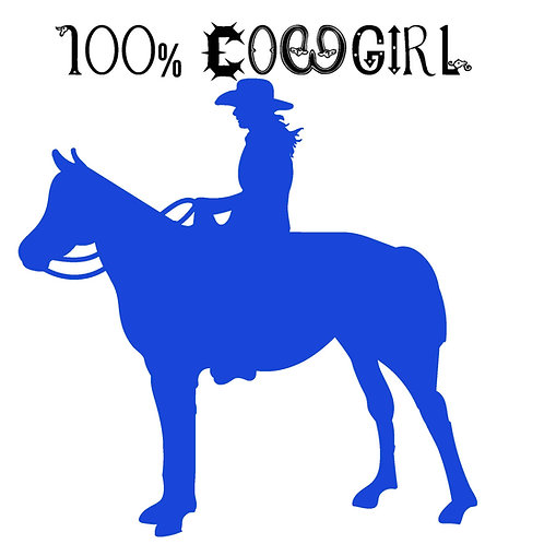 100% cowgirl decal