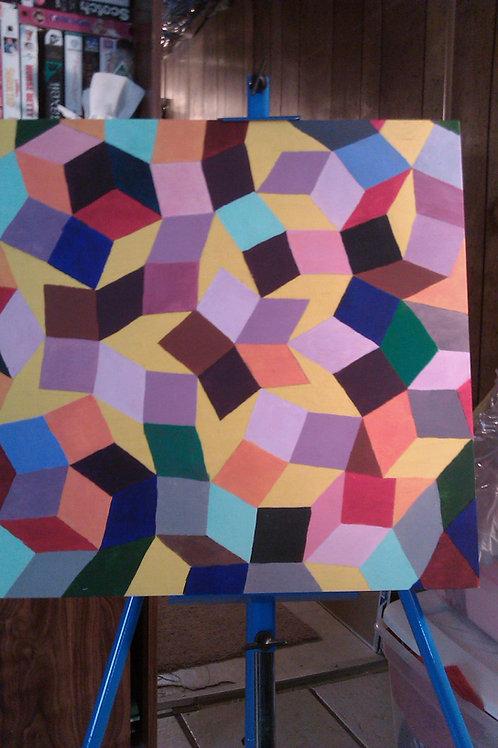 """Blocked"" Acrylic Painting"