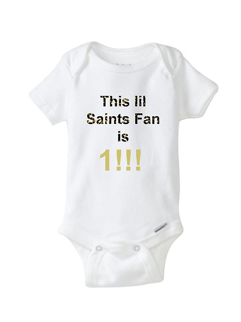 Onesie4 Carla Saints Fan 18 month