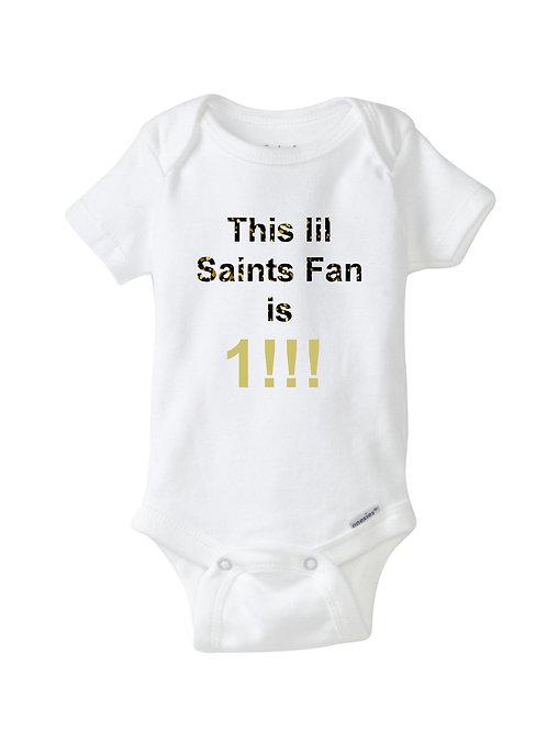 Onesie4 Carla Saints Fan 18 month