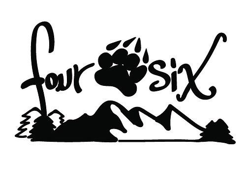 Four Paw Six Mountain Decal