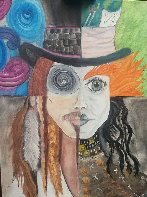 Mad Hatter Original Oil Painting