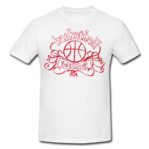 Red Bling Basketbal MoM T-shirt