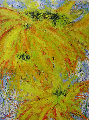 Sunflower Fury Diptych #2