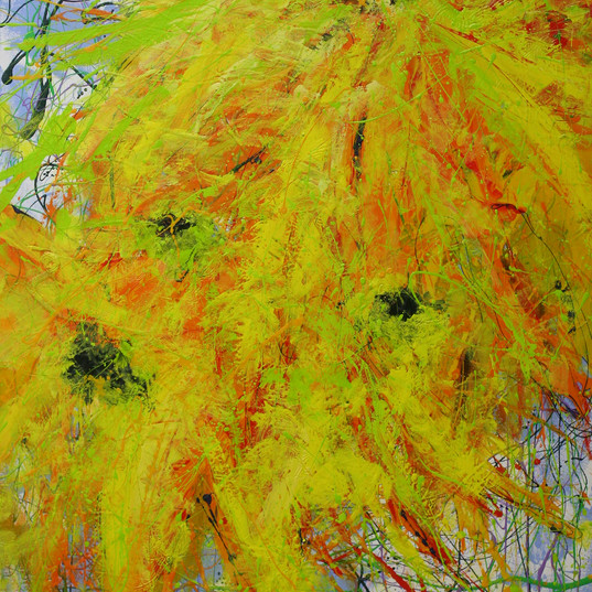 Sunflower Fury Diptych #1