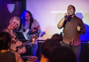 Harlem Lafayette - Singer/Actor & David Patterson & Carrie Beehan guitars