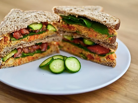Delicious Buffalo Chickpea Sandwich (Vegan, Dairy Free)