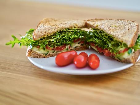 Easy 6 Ingredient Trader Joe's Recipe: Jalapeño Hummus Arugula Sandwich (Vegan)