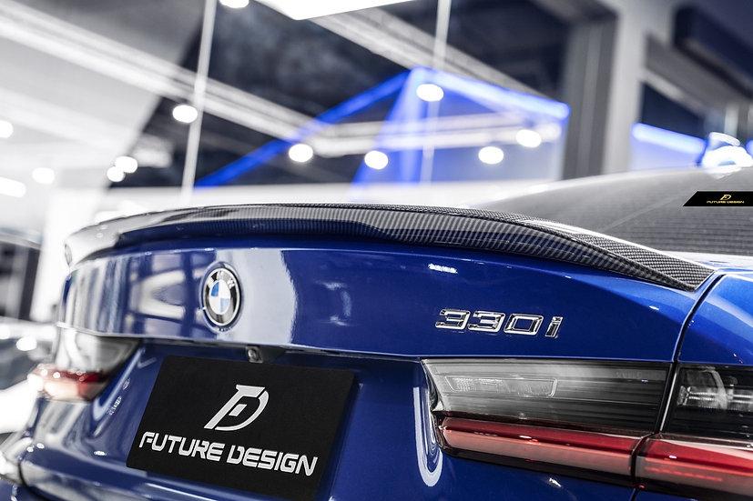 carbon fiber oem stock m-performance m sport m tech style rear trunk spoiler for 2020 bmw g20 3-series 330i M340i