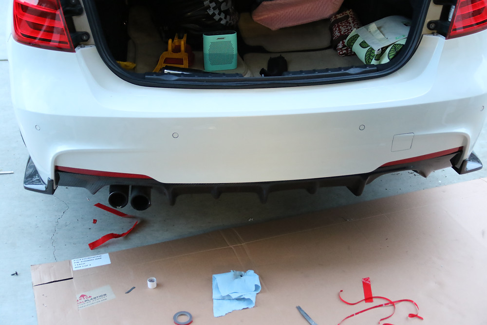 DIY Tips on Installation of our Carbon Fiber Rear Diffuser