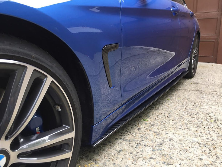 F36 4 Series (Gran Coupe) M-Sport Carbon Fiber Side Skirt Extension