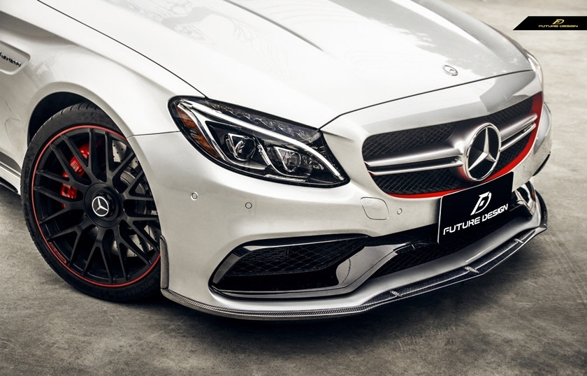 carbon fiber edition 1 style replica front lip for 2015 2016 2017 2018 2019 mercedes benz w205 c205 S205 c class c63 c63s