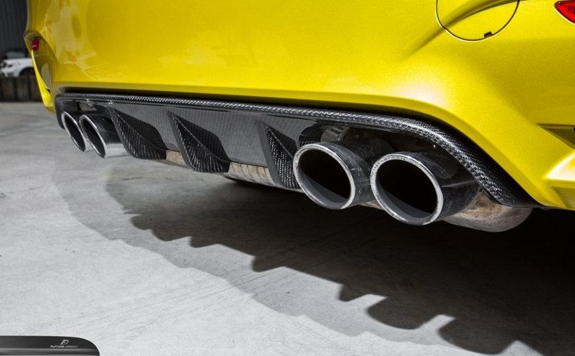BMW F80 F82 F83 Carbon Fiber M-Performance Style Rear Diffuser