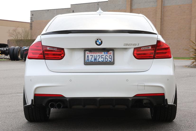 Future Design carbon fiber rear diffuser for BMW F30 F31 3-series 328i 330i 335i 340i with M-Sport M-Tech rear bumper