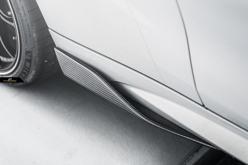 BMW F87/F22/F30 Carbon Fiber m performance style side skirt splitters rw carbon